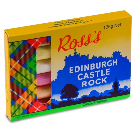 ROSS's Edinburgh Castle Rock Candy 135g / 4.76oz