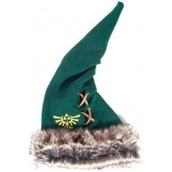 Zelda - Furry Pointy Beanie Green