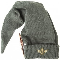 Nintendo Legend Of Zelda Long Pointed Elvish Hat With Embroidered Royal Crest Logo Beanie