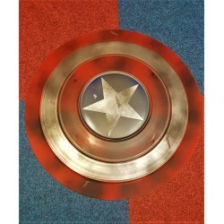 Battle Damaged America Shield  Cosplay Prop superhero Metal Shield prop