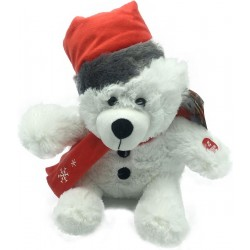 Sunkid Christmas Teddy Bear - Bear with Lights and sound - 25 cm