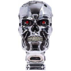 Nemesis Now T-800 Terminator 2 Judgement Day T2 Head Bottle Opener, Polyresin, Silver, One Size