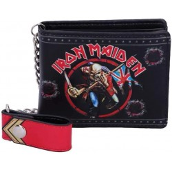 Nemesis Now Officially Licensed Iron Maiden Eddie Trooper Wallet, PU, Black, 11cm