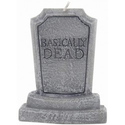 Basically Dead Tombstone Candle, Grey