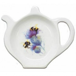 Jane Bannon Bees on Thistle Tea Bag Tidy