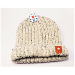 Knitted Beanie Hat with Highland Cow Logo