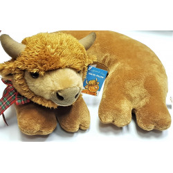 Highland cow travel pillow