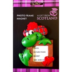 Scottish Gift - Nessie photo Picture Frame magnet - uk gift - dispatched free same day