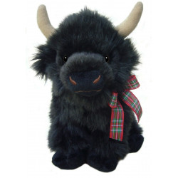 Archie The Highland Calf - Scottish Soft Toy with Tartan Ribbon (10ins)