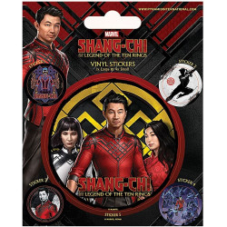 Set of 5 Marvel Shang-Chi Legend of The Ten Rings Vinyl Stickers