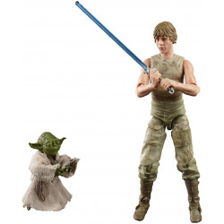 Star Wars The Black Series Luke Skywalker and Yoda (Jedi Training) 15-cm-Scale The Empire Strikes Back 40th Anniversary Figures