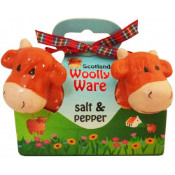 Highland Cow Woolly Ware Salt & Pepper Shakers