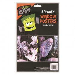 Halloween Window Poster - 2 Pack