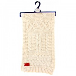 Knit Style Beige oatmeal cable Knit Scarf