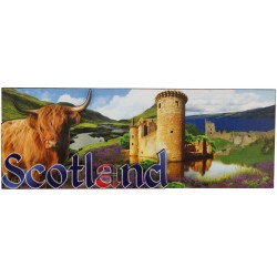 Cow castle 3d Collage Magnet