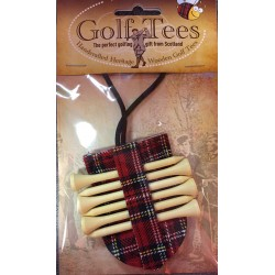 Wooden Golf Tees with Tartan Pouch