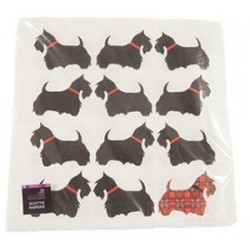 Scottish Scottie Dog Napkins Pack of 20 by Scottie Dog Napkins Pack of 20