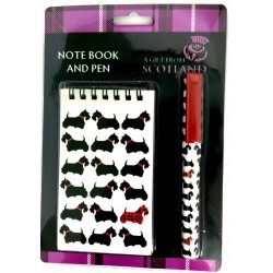 Scottie Dog Notebook and Pen Gift Set A Gift From Scotland
