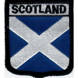 Scottish Saltire Flag Embroidered Patch
