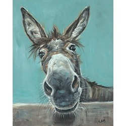 """Louise Brown """"Well Hello There"""" Canvas Prints, Multi-Colour 40 x 50 cm"""