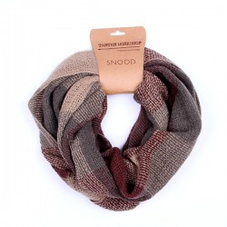 Tradition and heritage Basket Weave Brown and Beige Snood