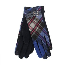 Tartan Traditions Royal Blue Tartan Ladies Gloves