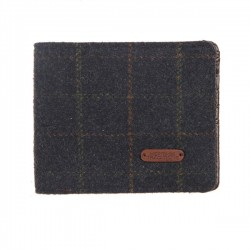 Heritage Traditions Mens Blue Box Tweed Wallet
