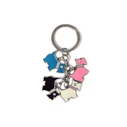 Scottish Dog Charm Keyring