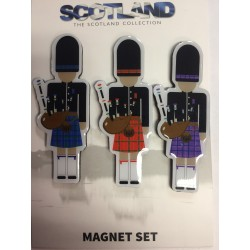 3 Pack of Scottish Piper Magnets