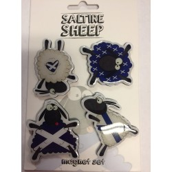 4 Pack of Scottish Saltire Sheep Magnets