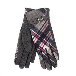 Tartan Traditions Grey Tartan Ladies Gloves