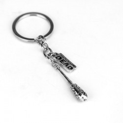 LUCILLE BARBED WIRE BASEBALL BAT THEMED KEYRING THE WALKING DEAD NEGAN KEYCHAIN