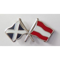 Scotland & Austia Friendship Pin Badge