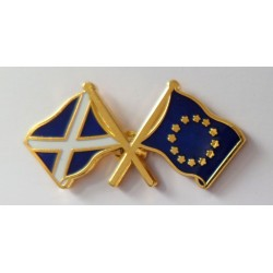 Scotland & EU Friendship Pin Badge