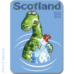 Fridge Magnet Scottish Cartoonist Graham High - Nessie