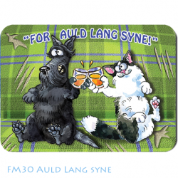 Fridge Magnet Scottish Cartoonist Graham High - Auld Lang Syne