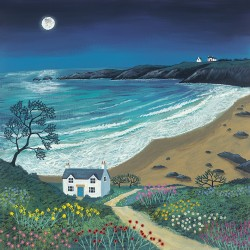 Jo Grundy (The Path to Moonlight Bay) Canvas Print 40 x 40cm
