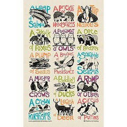 Collective noun tea towel by Perkins and Morley