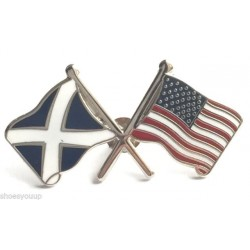 USA-Saltire Friendship Flag Pin Badge