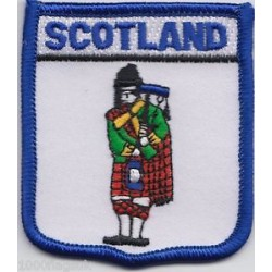 Scotland Piper Embroidered Patch