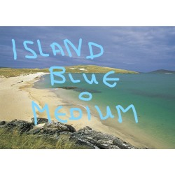 Postcard Island Blue Medium