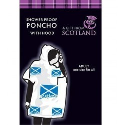 Saltire Weatherproof Poncho With Hood