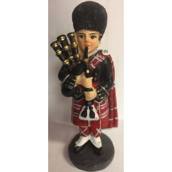 Scottish Piper Ornament Figurine