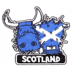 Highland Cow Patch iron on or sew on