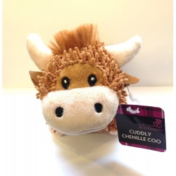 Scottish gift - Highland Cow Cuddly Chenille Soft Toy - Uk gift