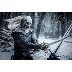 Game of Thrones White Walker Maxi Poster, Wood, Multi-Colour