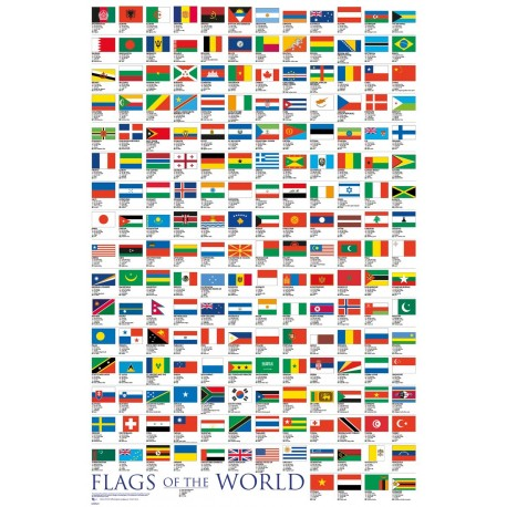 Flags Of The World Maxi Poster 61 x 91,5 cm