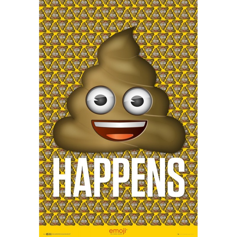 GB Eye LTD, Emoji, Poo, Maxi Poster, 61 x 91.5 cm