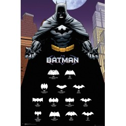 "DC Comics ""Batman Comic, Logos"" Maxi Poster, Multi-Colour, 61 X 91.5 cm"