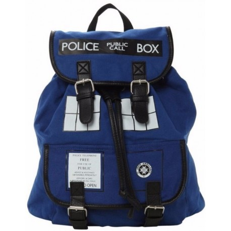 Doctor Dr. Who Tardis Women's Knapsack Backpack Police Box Bag Good Quality With Tag